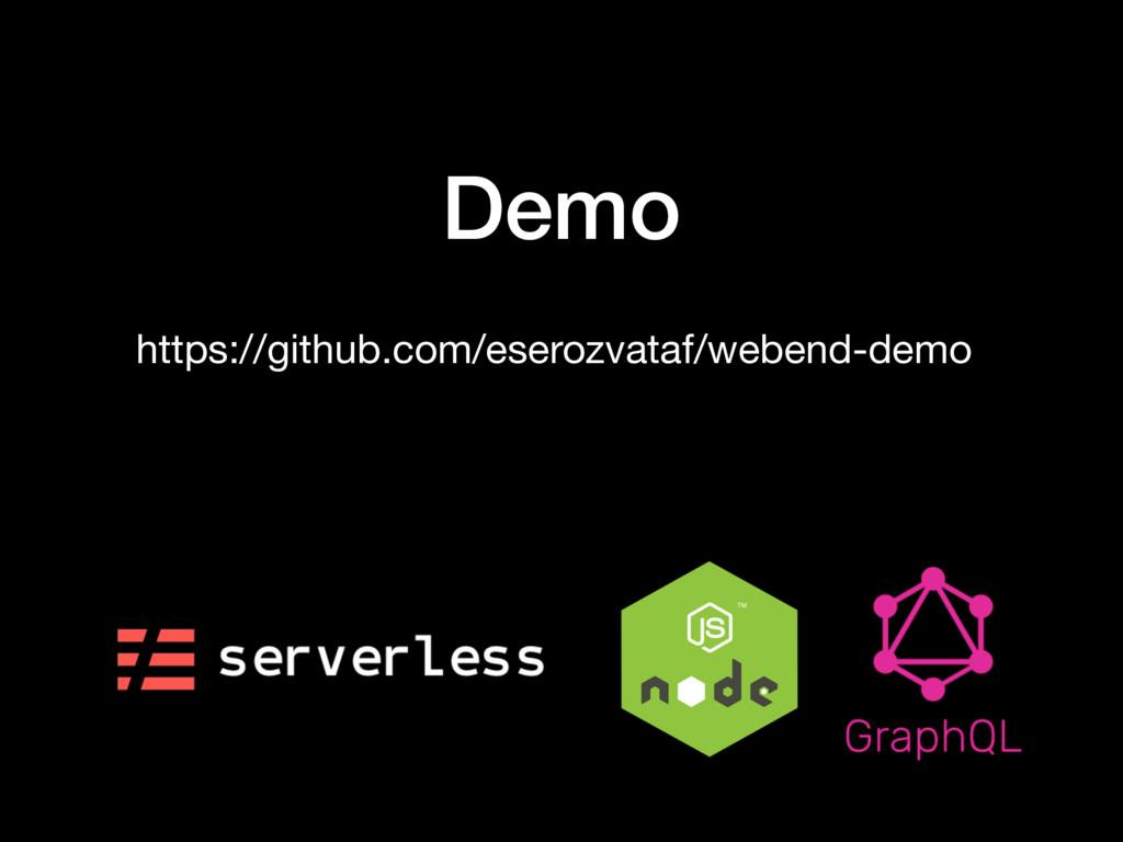 Demo https://github.com/eserozvataf/webend-demo
