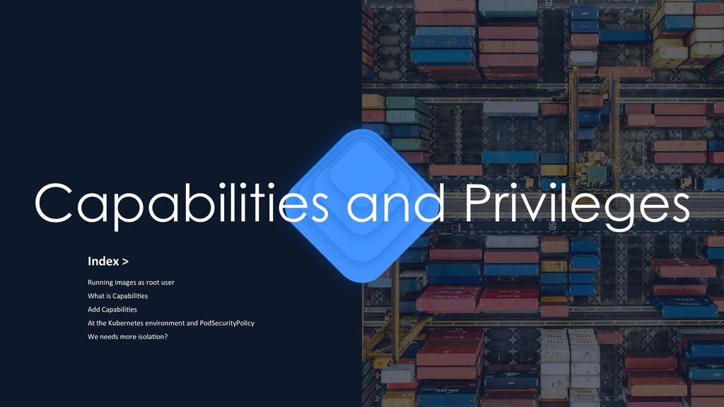 Capabilities and Privileges Index > Running ima...