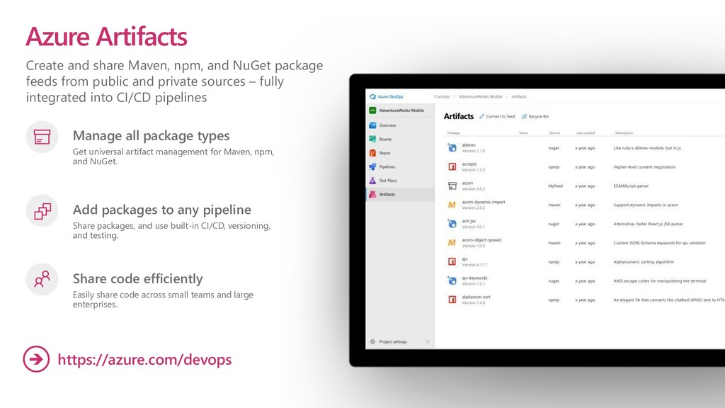 Create and share Maven, npm, and NuGet package ...