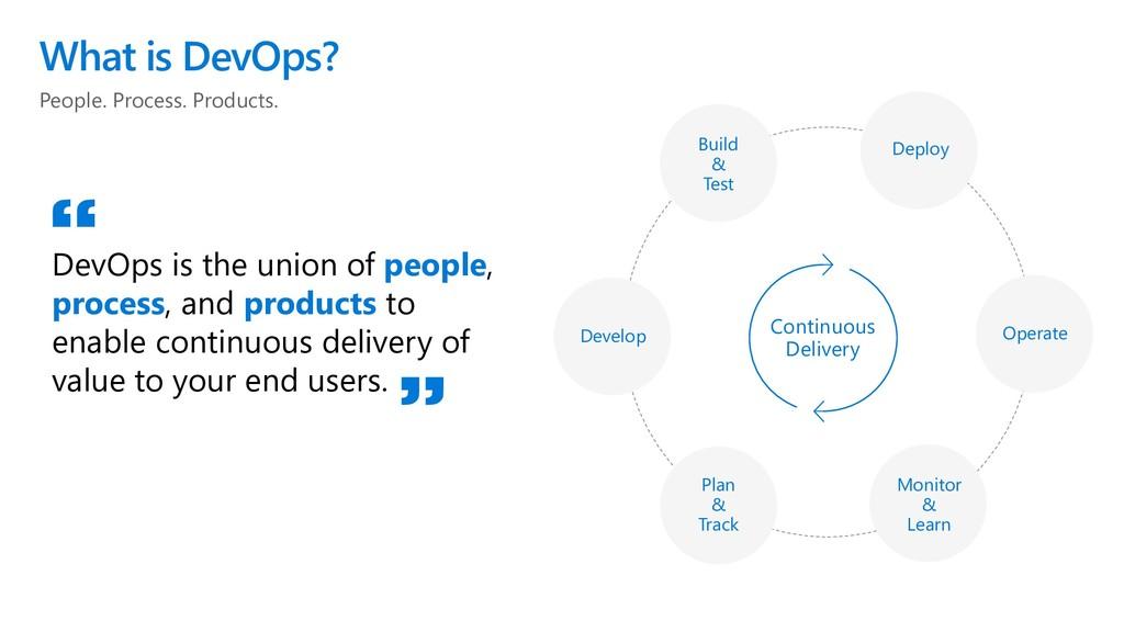 People. Process. Products. What is DevOps? DevO...