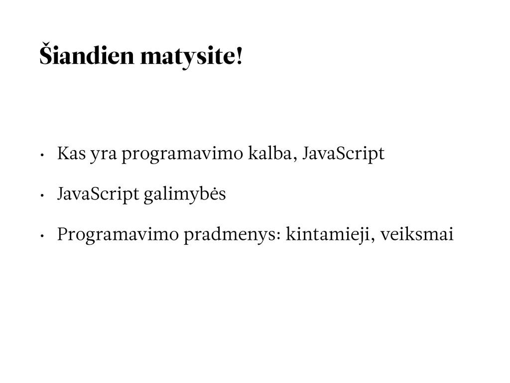Šiandien matysite! • Kas yra programavimo kalba...