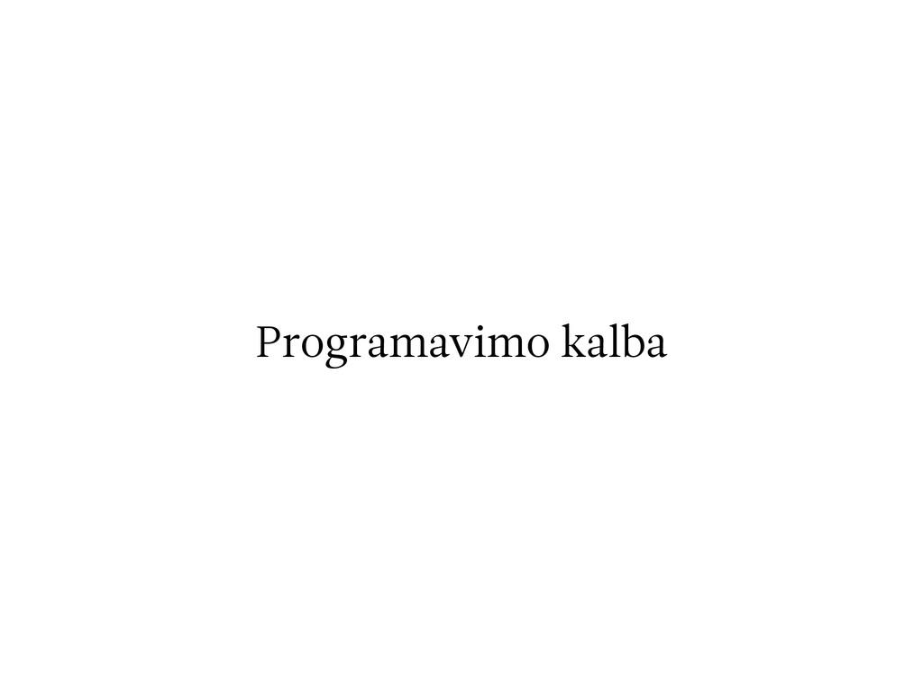 Programavimo kalba