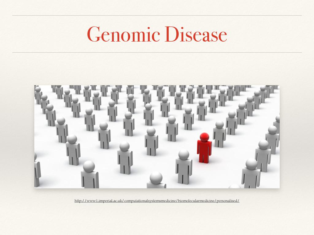 Genomic Disease http://www1.imperial.ac.uk/comp...