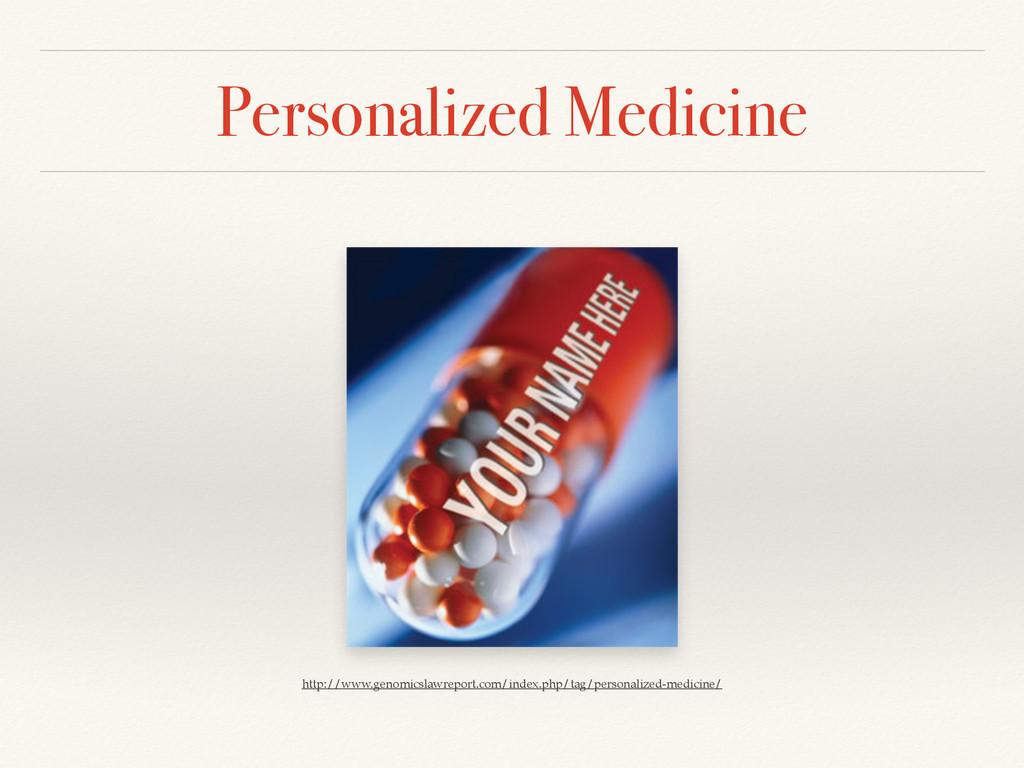 Personalized Medicine http://www.genomicslawrep...