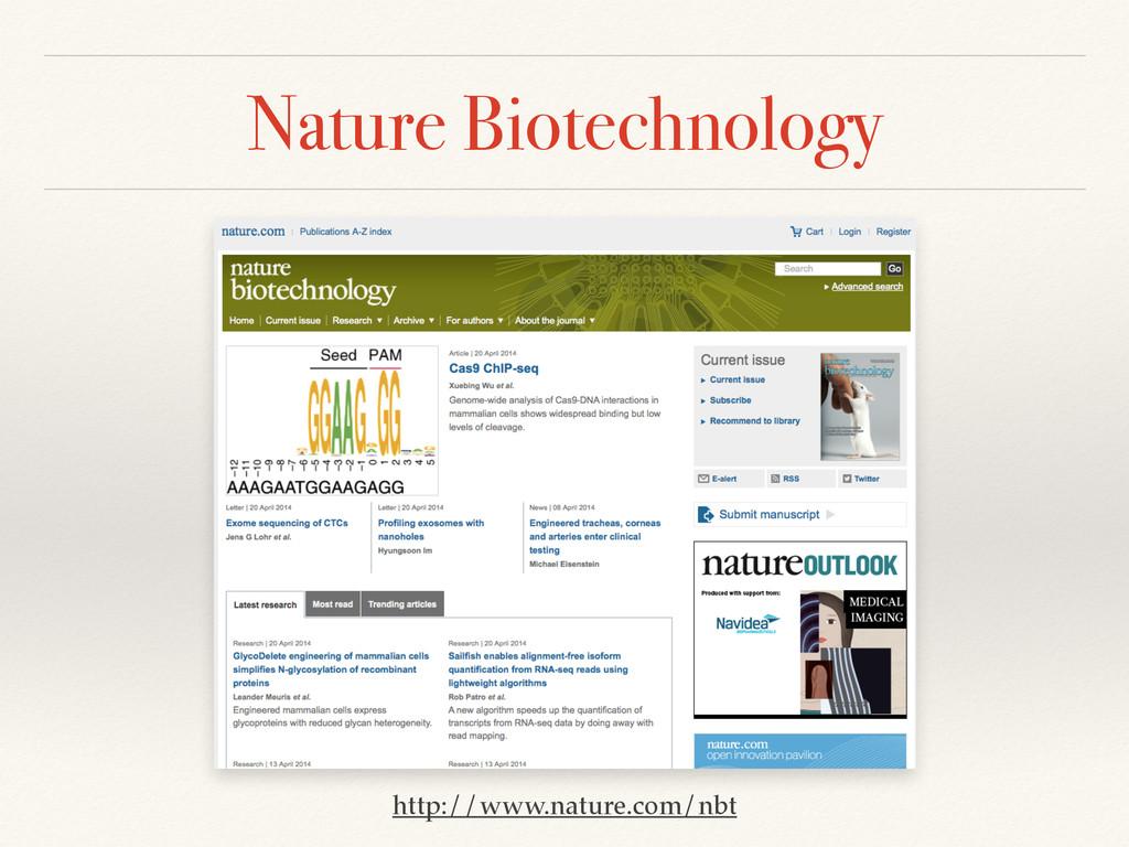 Nature Biotechnology http://www.nature.com/nbt