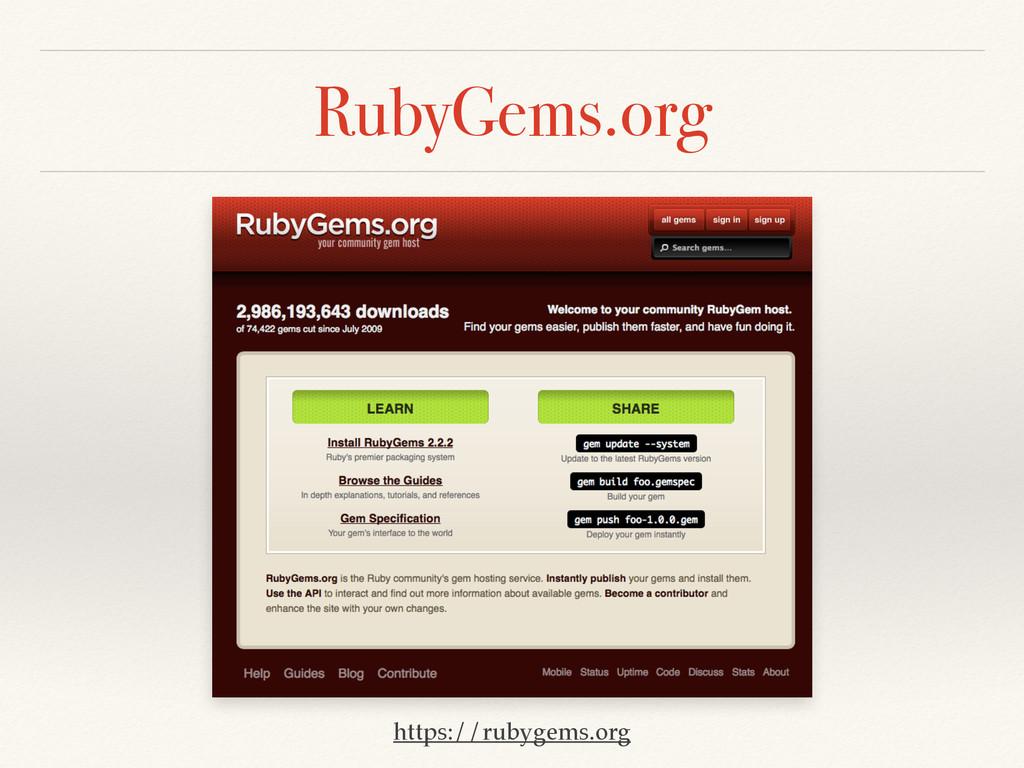 RubyGems.org https://rubygems.org