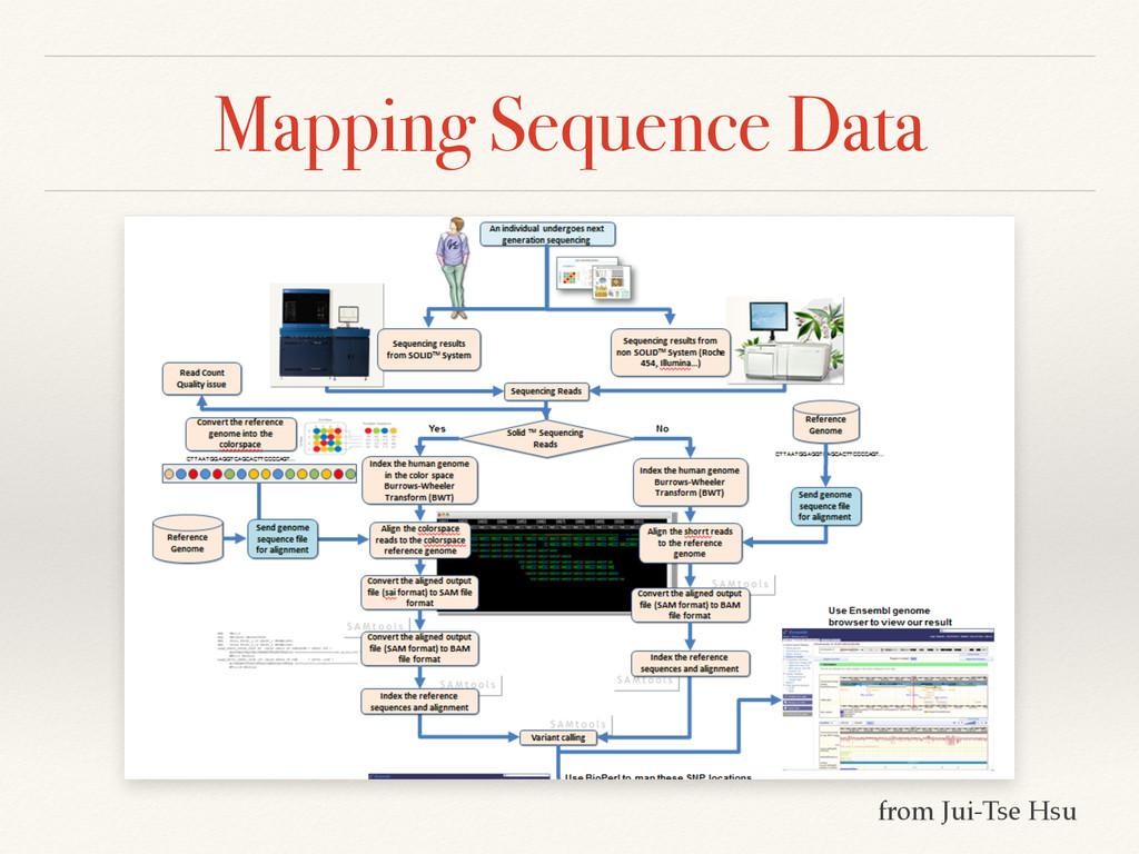 Mapping Sequence Data from Jui-Tse Hsu
