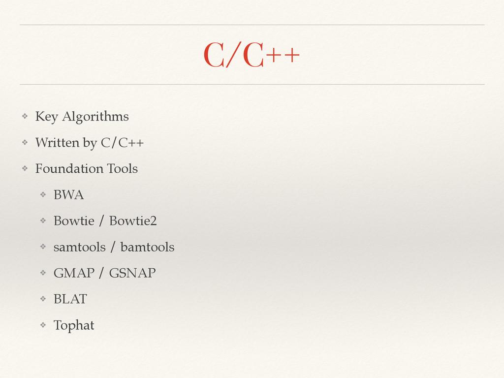 C/C++ ❖ Key Algorithms! ❖ Written by C/C++! ❖ F...
