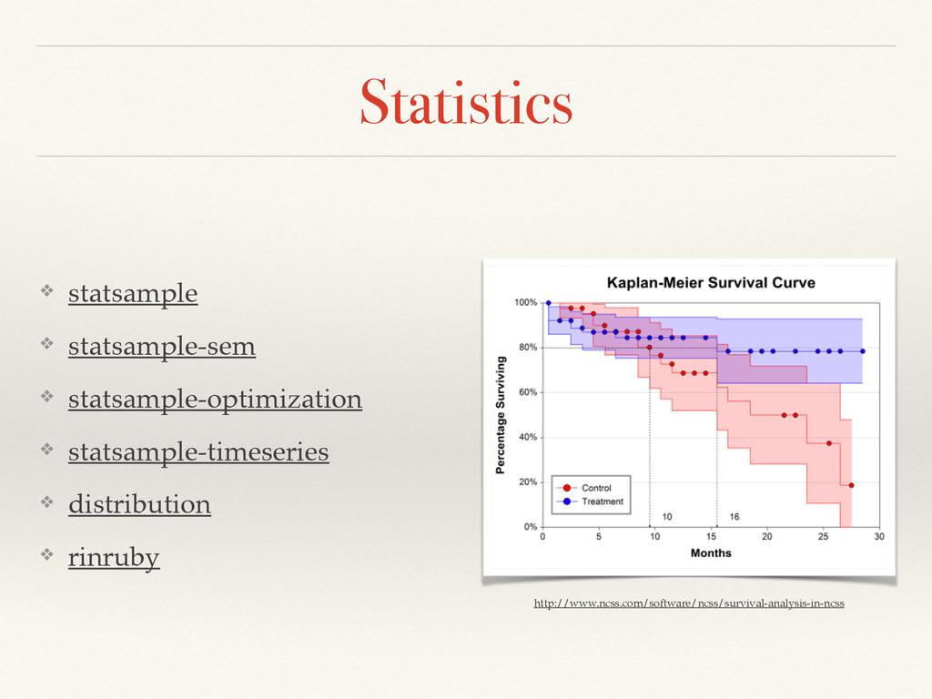 Statistics ❖ statsample! ❖ statsample-sem! ❖ st...