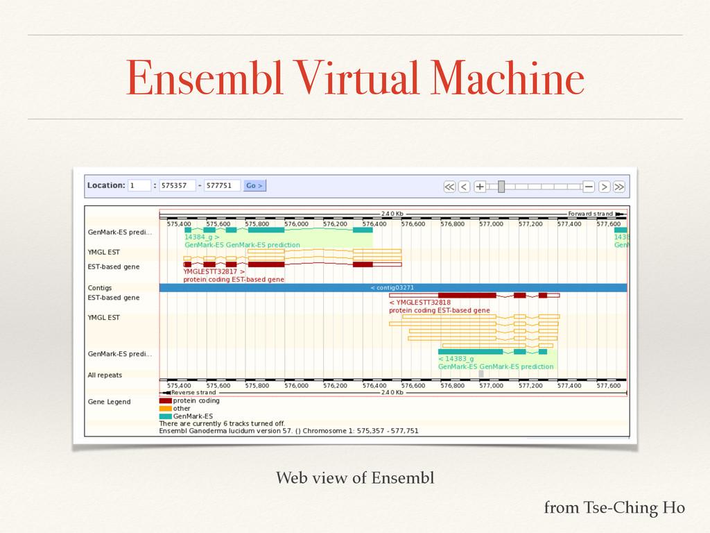 Ensembl Virtual Machine Web view of Ensembl fro...