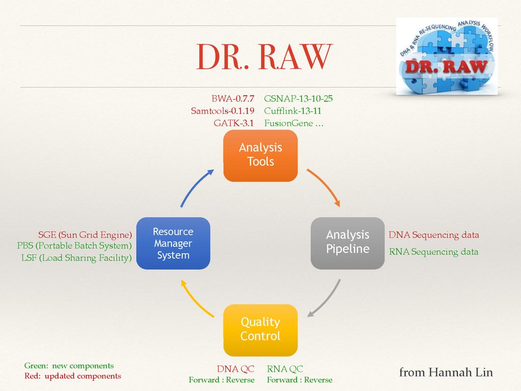 DR. RAW Analysis Tools Analysis Pipeline Qualit...