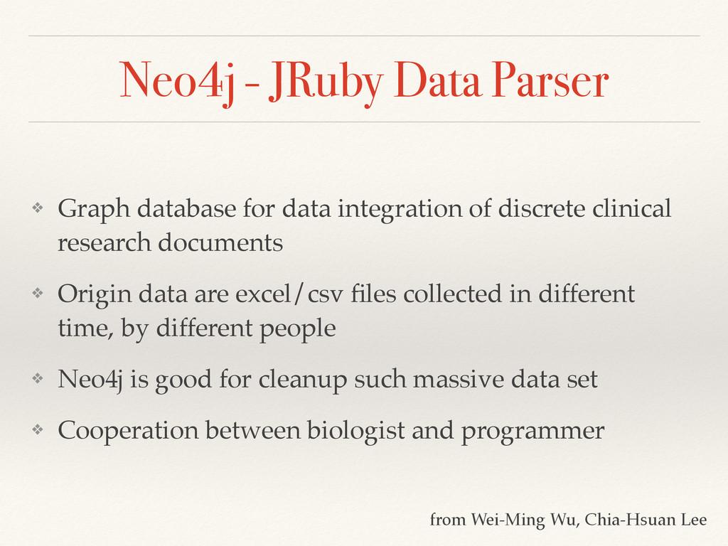 Neo4j - JRuby Data Parser ❖ Graph database for ...