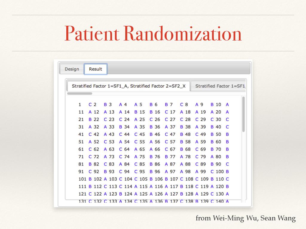 Patient Randomization from Wei-Ming Wu, Sean Wa...
