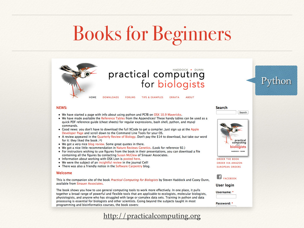 Books for Beginners http://practicalcomputing.o...