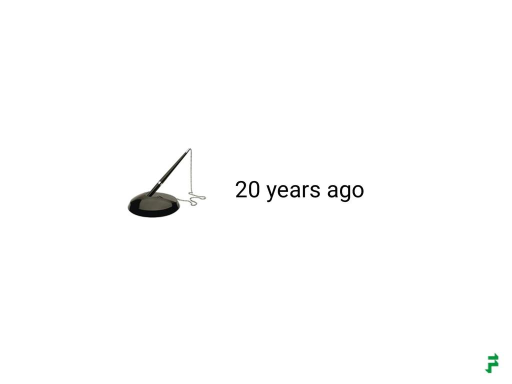 20 years ago