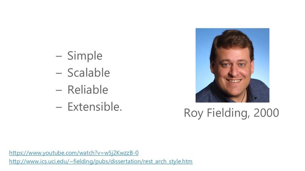 Die Geschichte von REST Roy Fielding, 2000 http...