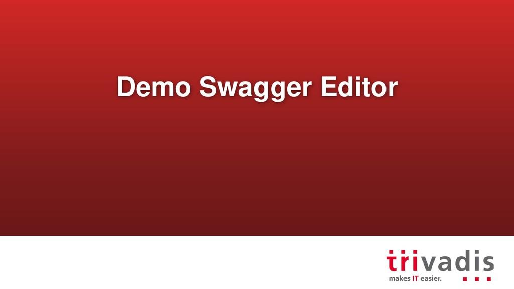 Demo Swagger Editor
