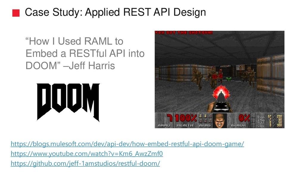 "Case Study: Applied REST API Design ""How I Used..."