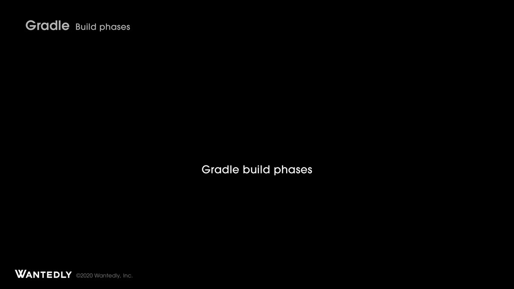 ©2020 Wantedly, Inc. Gradle Build phases Gradle...