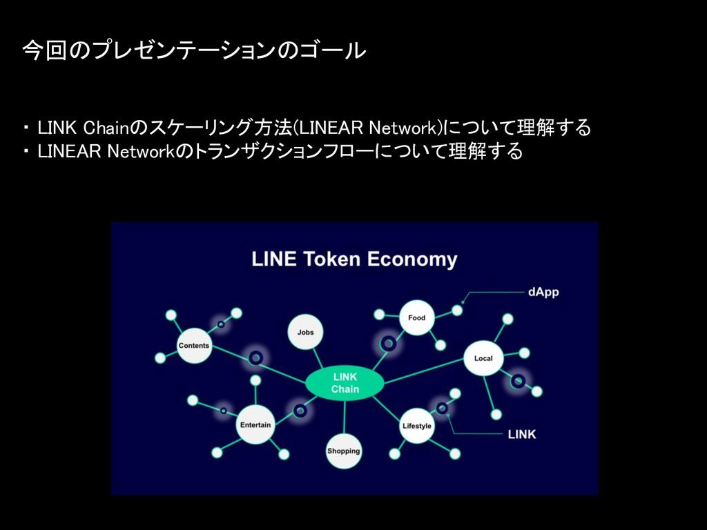 ・ LINK Chainのスケーリング方法(LINEAR Network)について理解する ・...
