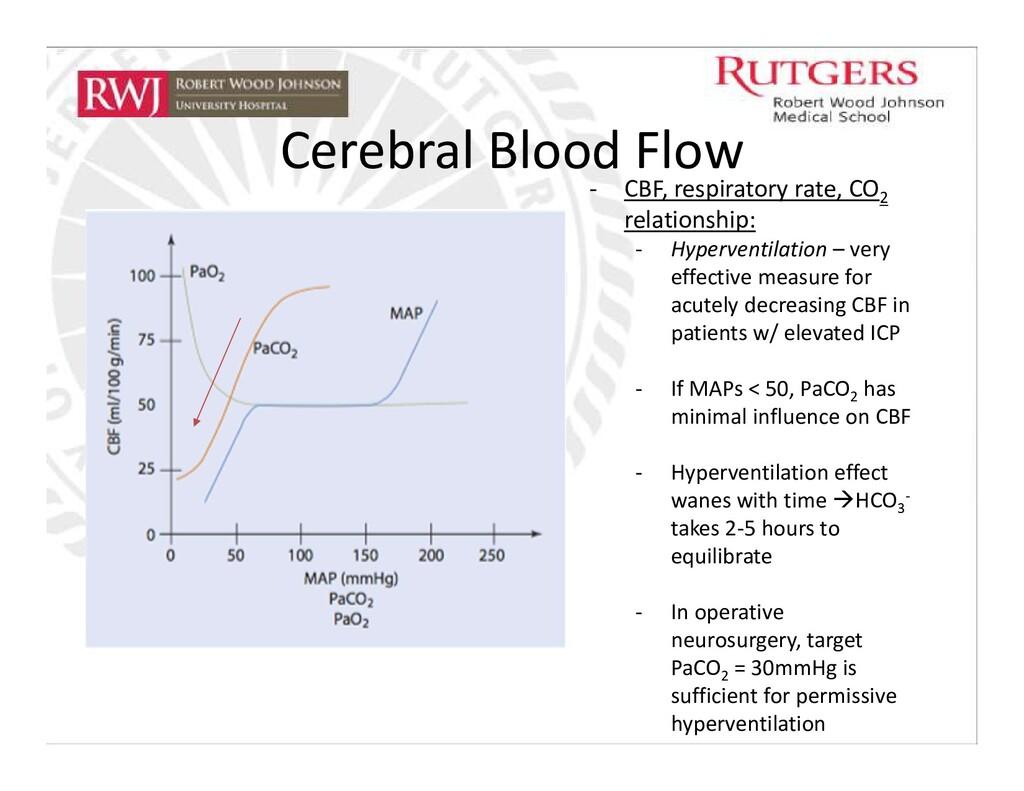 Cerebral Blood Flow - CBF, respiratory rate, CO...