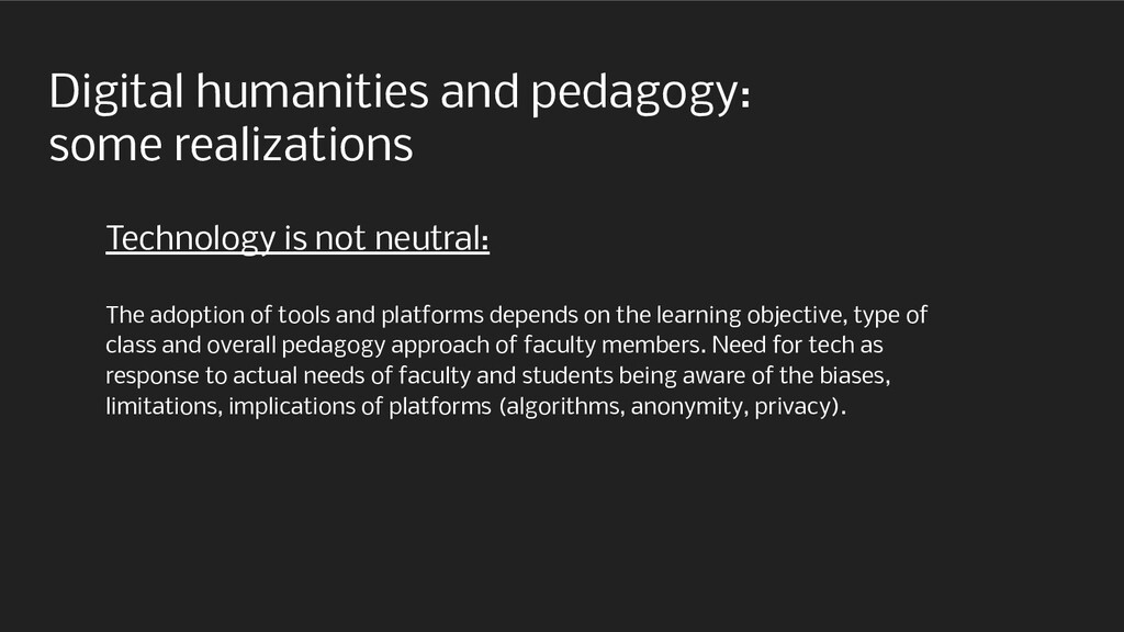Digital humanities and pedagogy: some realizati...