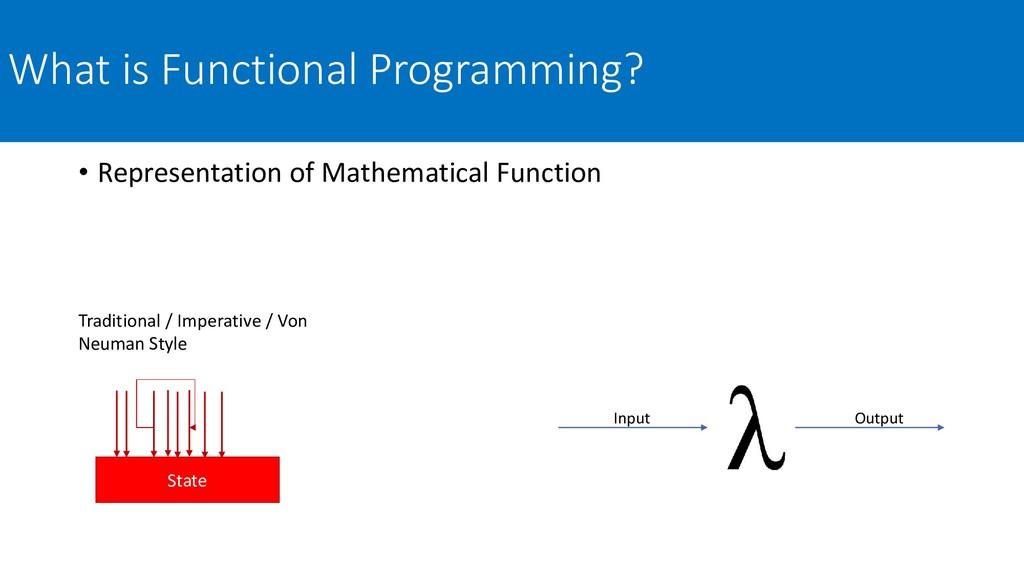 What is Functional Programming? • Representatio...