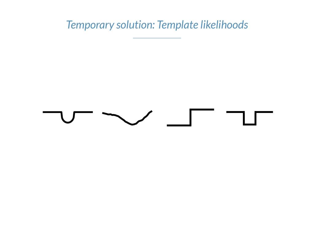 Temporary solution: Template likelihoods
