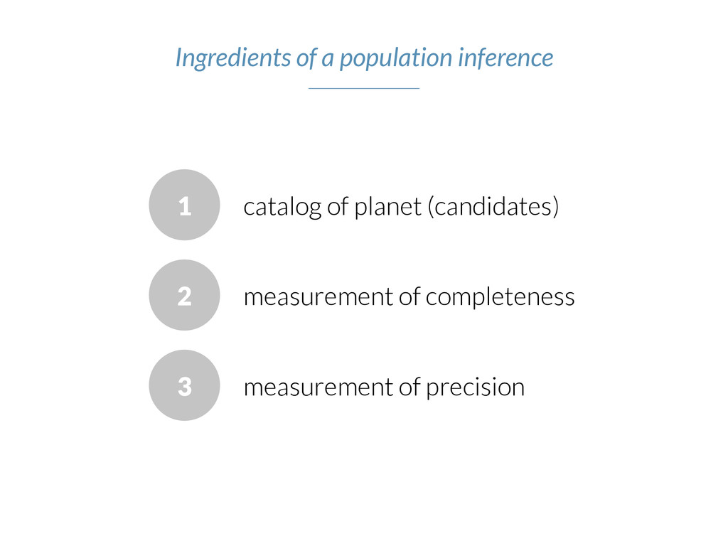 1 catalog of planet (candidates) measurement of...