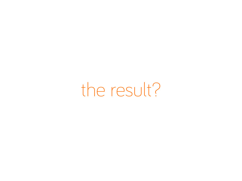 the result?