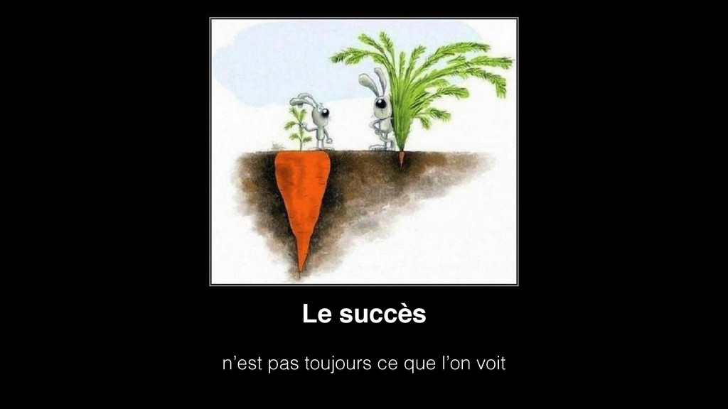 Le succès  n'est pas toujours ce que l'on voit