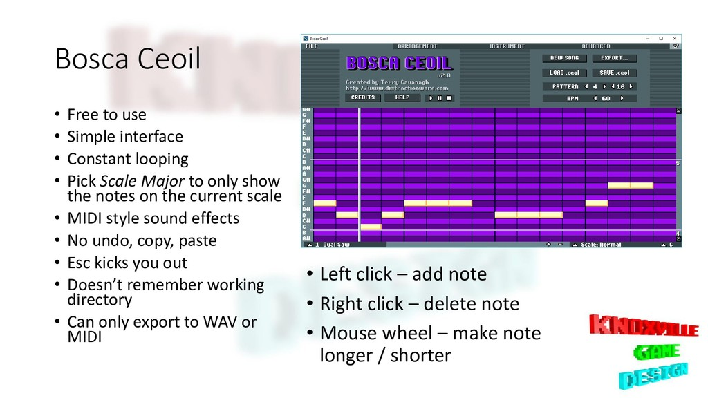 Bosca Ceoil • Free to use • Simple interface • ...