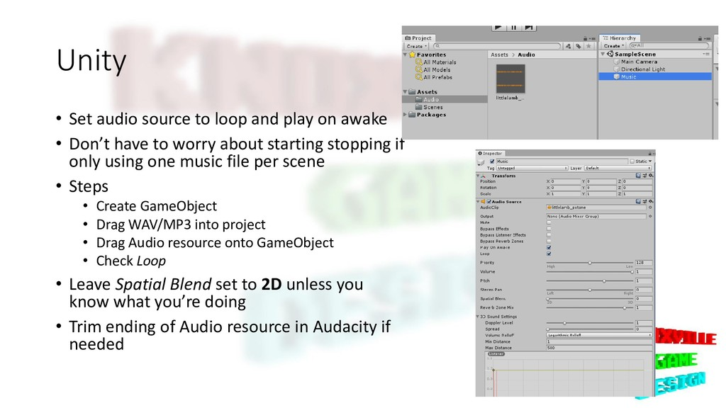 Unity • Set audio source to loop and play on aw...