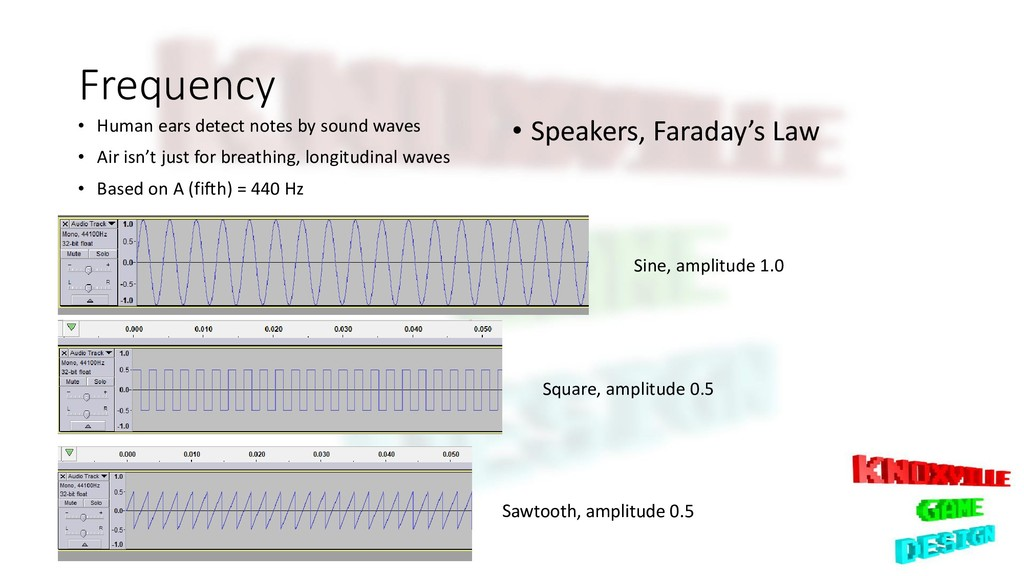 Frequency • Human ears detect notes by sound wa...