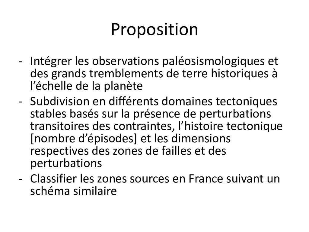 Proposition - Intégrer les observations paléosi...