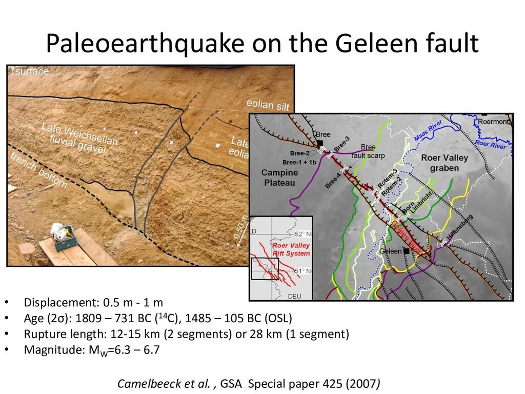 Paleoearthquake on the Geleen fault • Displacem...