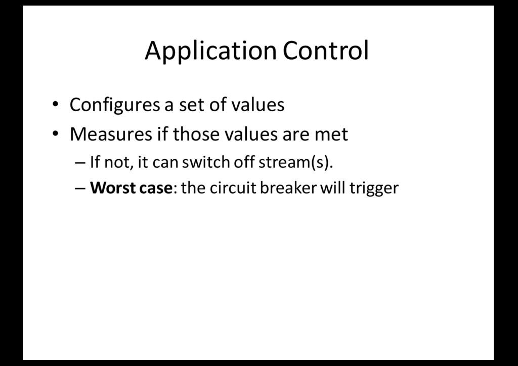 Application Control • Configures a set of value...