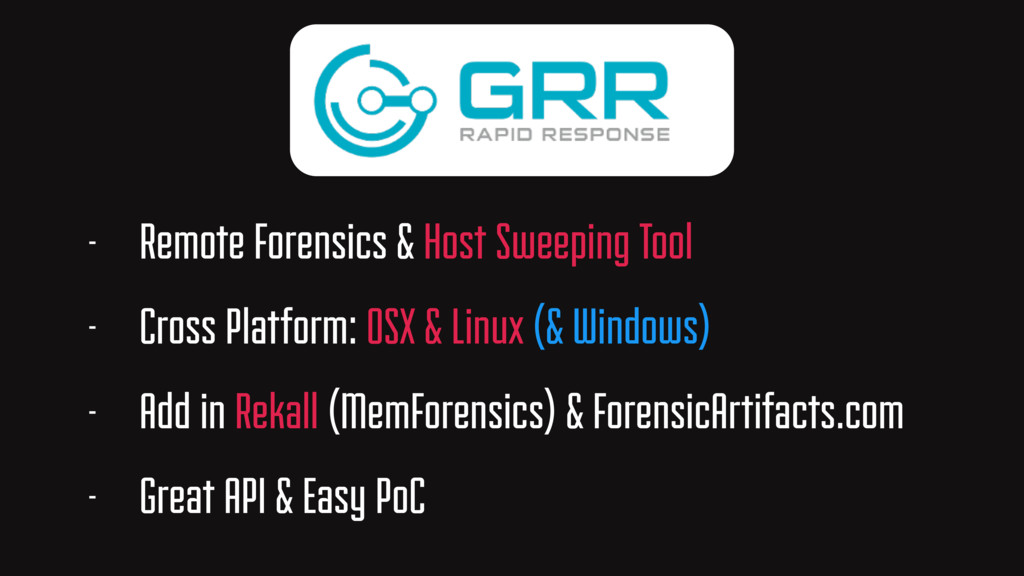 - Remote Forensics & Host Sweeping Tool - Cross...