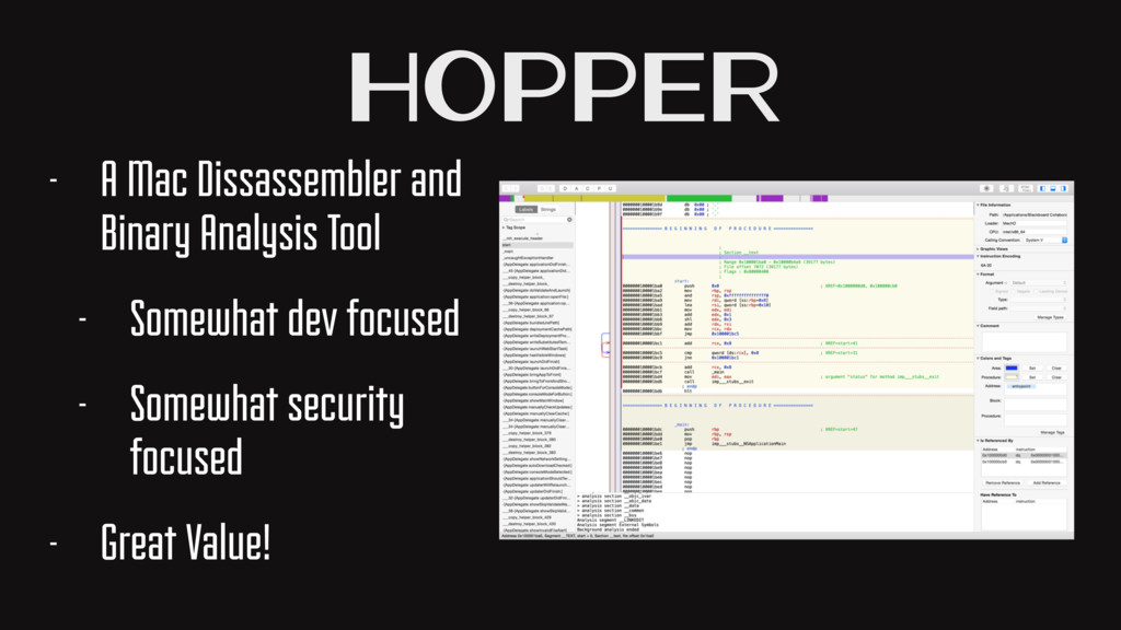 Hopper - A Mac Dissassembler and Binary Analysi...