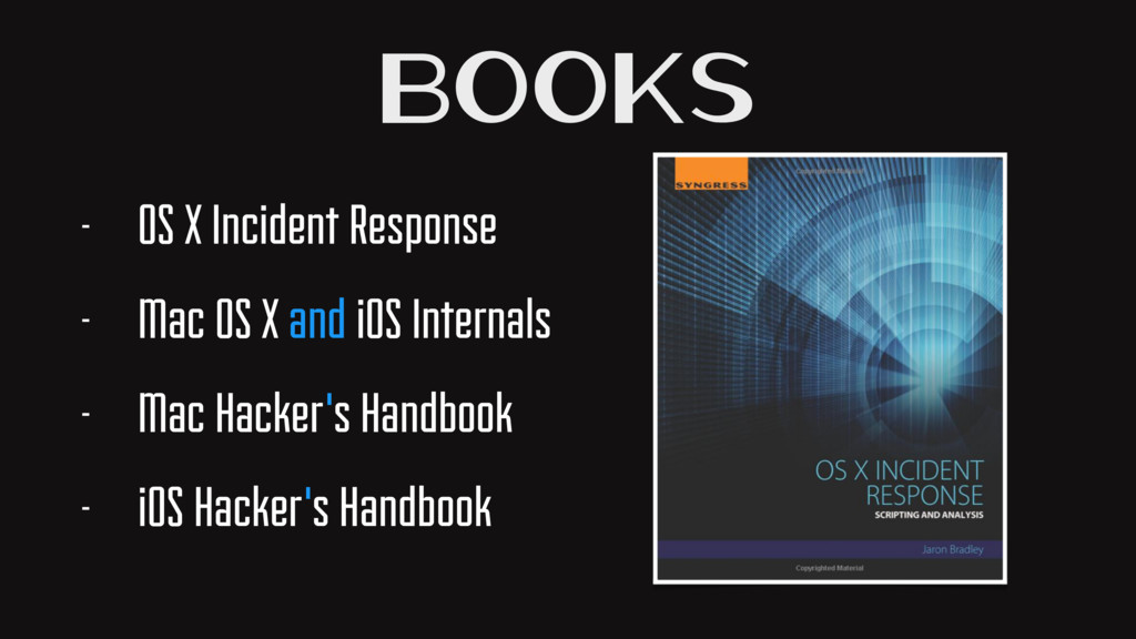 Books - OS X Incident Response - Mac OS X and i...