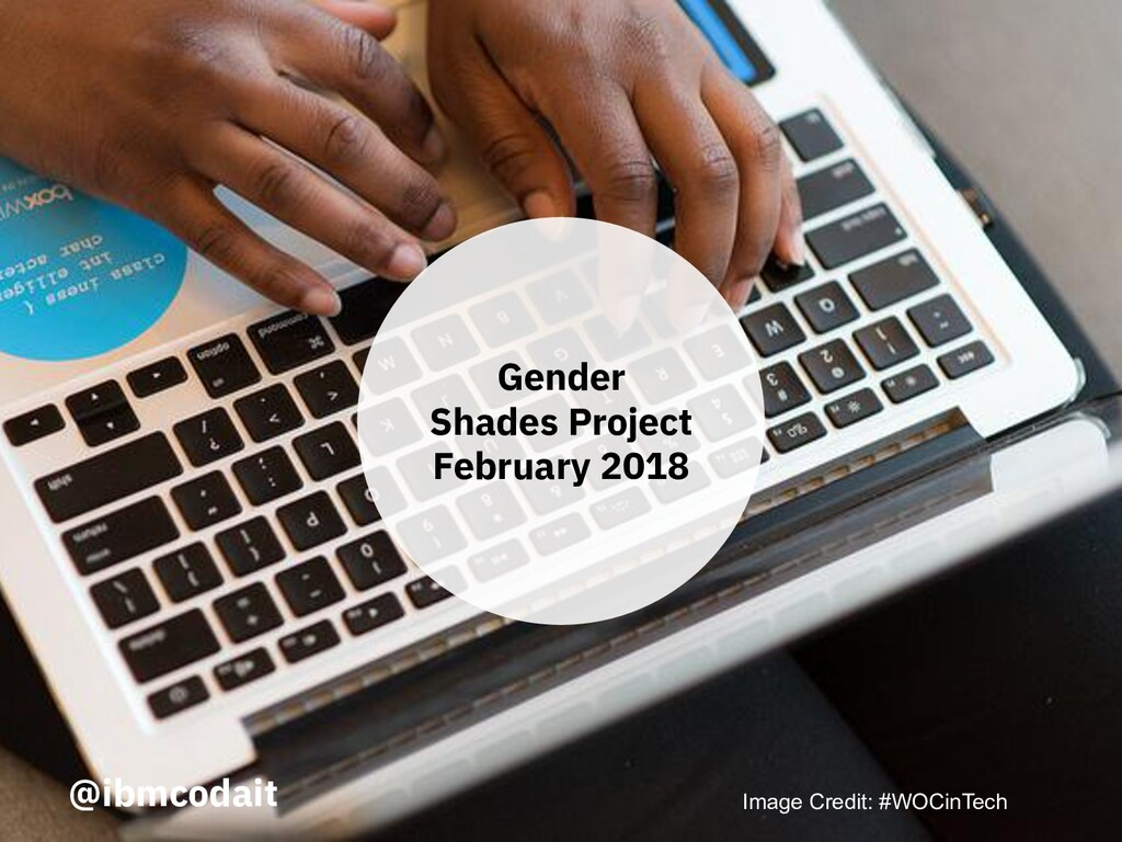 @ibmcodait Gender Shades Project February 2018 ...