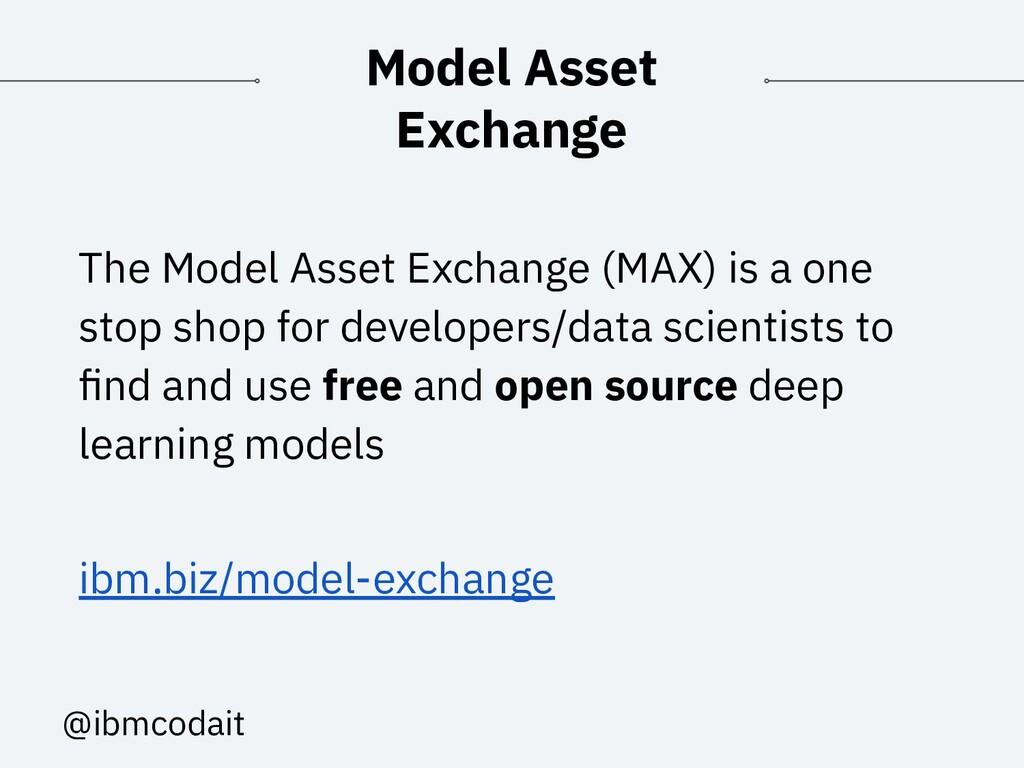 @ibmcodait Model Asset Exchange The Model Asset...