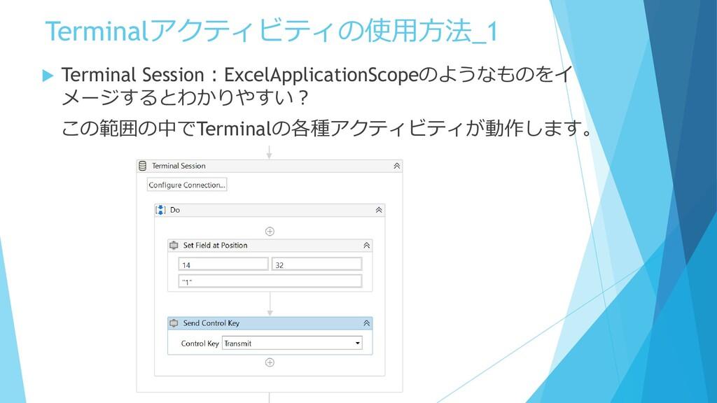 Terminalアクティビティの使用方法_1  Terminal Session:Excel...