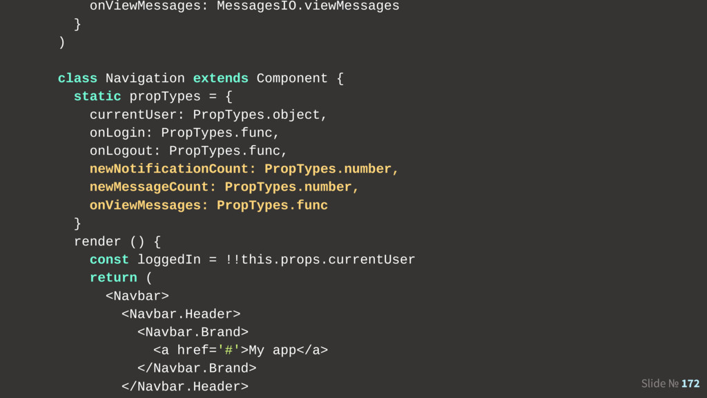 Slide № 172 onViewMessages: MessagesIO.viewMess...