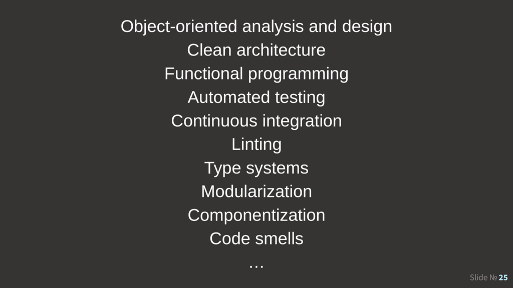 Slide № 25 Object-oriented analysis and design ...