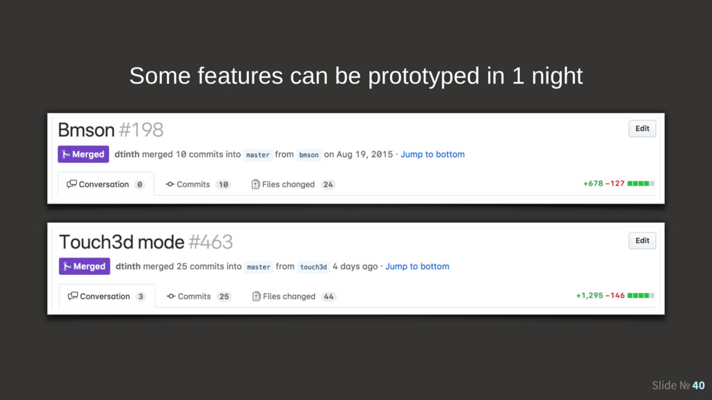 Slide № 40 Some features can be prototyped in 1...