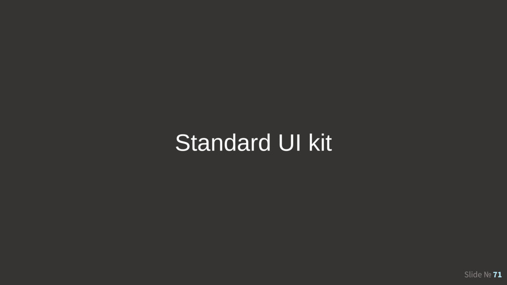 Slide № 71 Standard UI kit