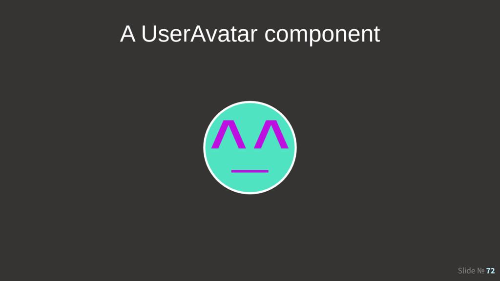 Slide № 72 A UserAvatar component