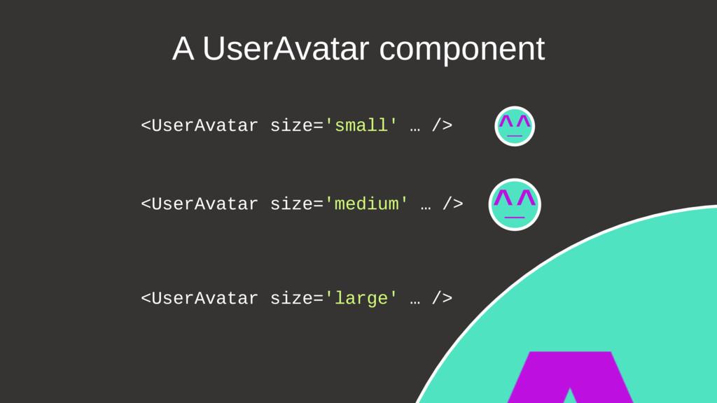 Slide № 75 <UserAvatar size='small' … /> <UserA...