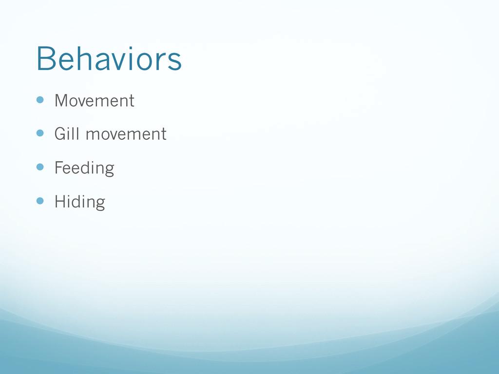 Behaviors — Movement — Gill movement — Fe...